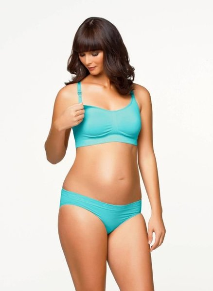 View larger image of Cotton Candy Nursing Bra Aqua