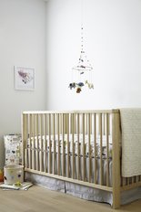 Cotton Crib Skirt - Grey