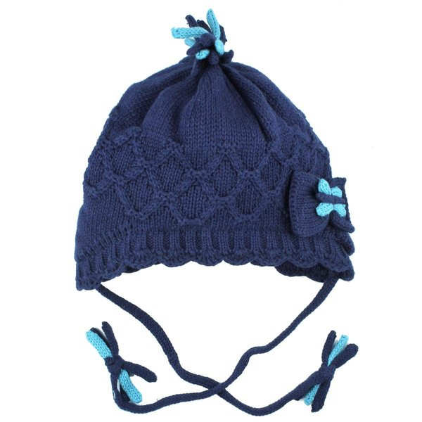 View larger image of Cotton Knit w Bow M-Navy