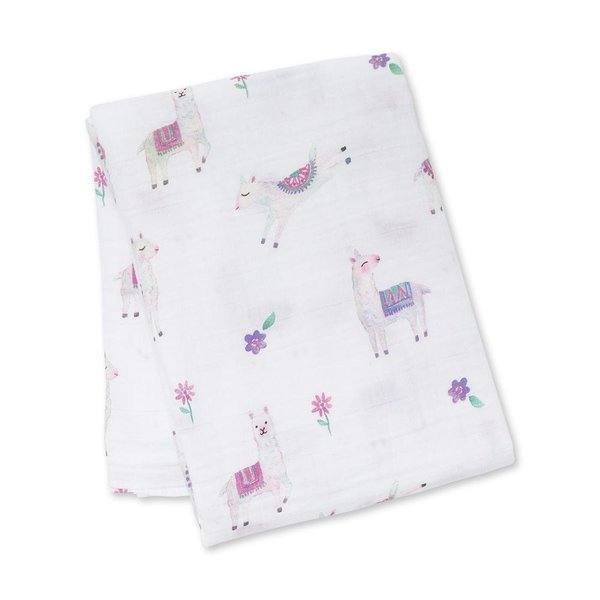 View larger image of Muslin Cotton Swaddle - Llama