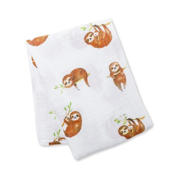 View larger image of Muslin Cotton Swaddle - Sloth