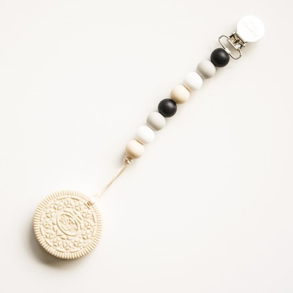 View larger image of Cream Cookie Teether - Black/Neutral