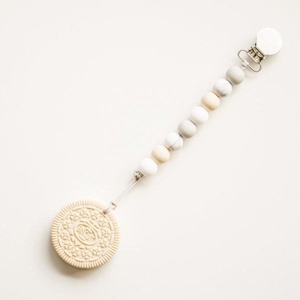 View larger image of Cream Cookie Teether - Marble/Neutral