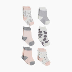 Crew Socks - Girl - 6 Pack