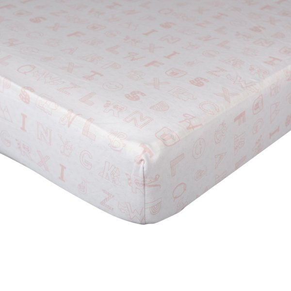 View larger image of Fitted Sheet - Alphabet Pink