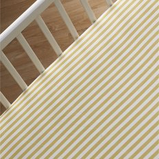 Fitted Sheet Amber Stripe