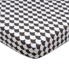 Crib Fitted Sheet - Scallops