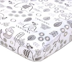 Crib Fitted Sheet - Kayden Elephant