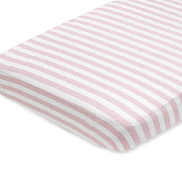 View larger image of Crib Sheet - Pink Stripe