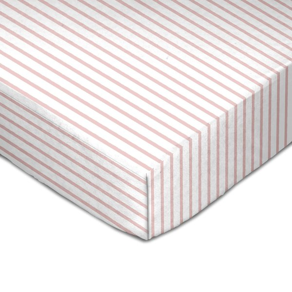 View larger image of Muslin Crib Fitted Sheet - Pink Stripes