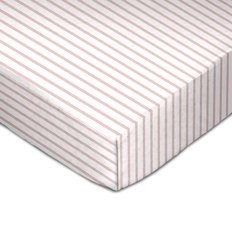 Muslin Crib Fitted Sheet - Pink Stripes