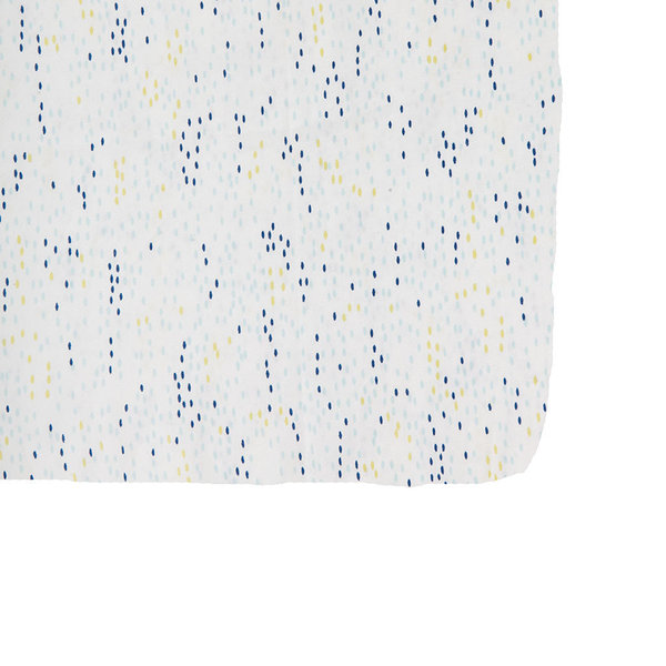 View larger image of Crib Sheet Blue Showers