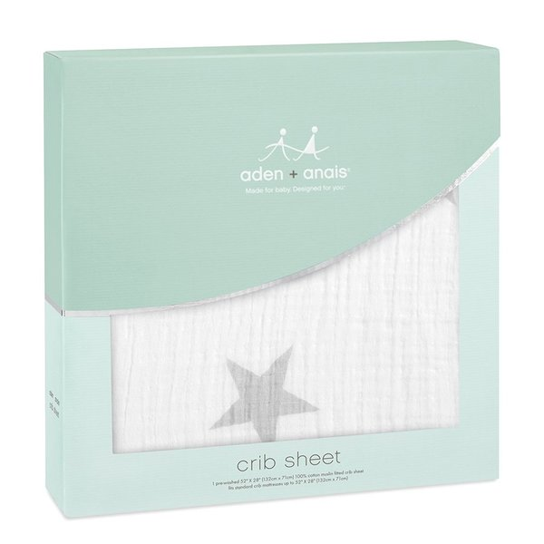 View larger image of Crib Sheet - Twinkle Silver