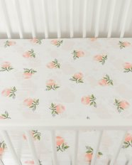 Cotton Muslin Crib Sheet - Watercolour Rose