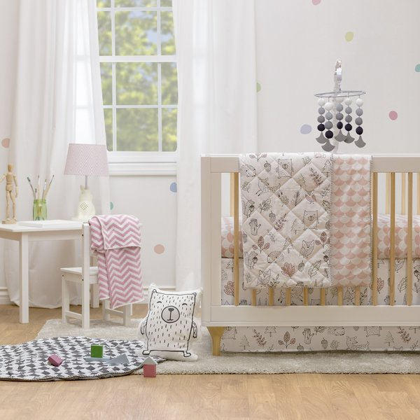 View larger image of Crib Fitted Sheet - Kayden Woodlands
