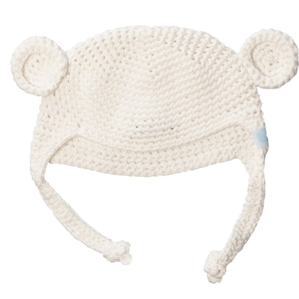 View larger image of Crochet Bear Hat 3-6M-Grey