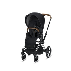 Priam Stroller - Chrome/Brown Frame