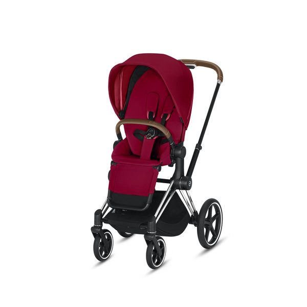 View larger image of Priam Stroller - Chrome/Brown Frame