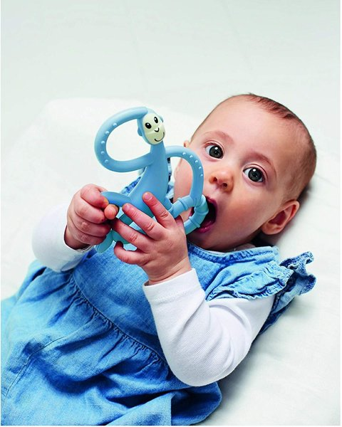View larger image of Dancing Monkey Teether - Light Blue