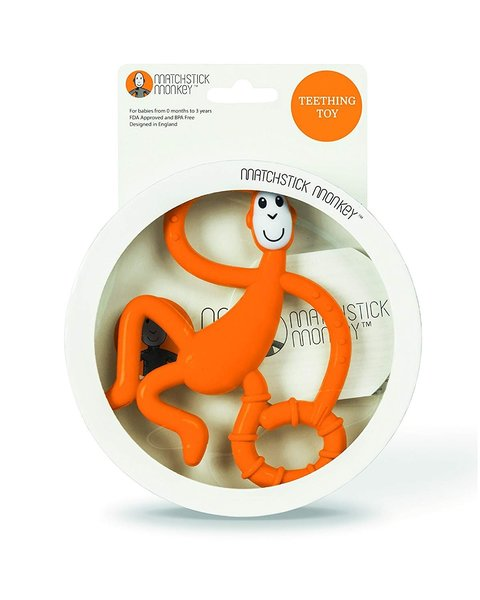 View larger image of Dancing Monkey Teether - Orange
