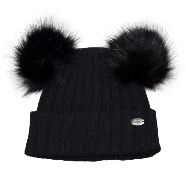 View larger image of Dbl Pom Knit Hat-Blk-S