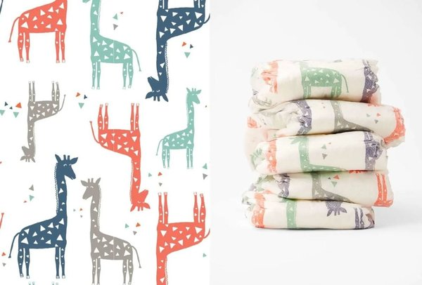 View larger image of Honest Diapers - Multi Giraffes