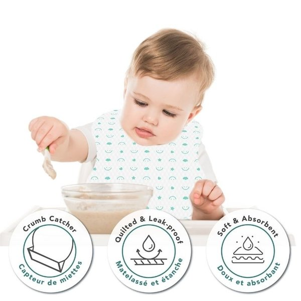View larger image of Disposable Bibs with Crumb Catcher