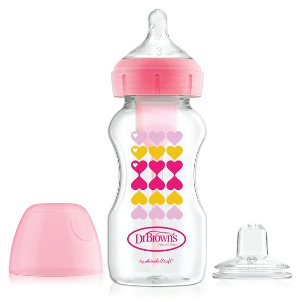 View larger image of 9oz Options Wide Neck w/ Sippy Spouts