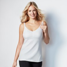 Dream Nursing Tank - White