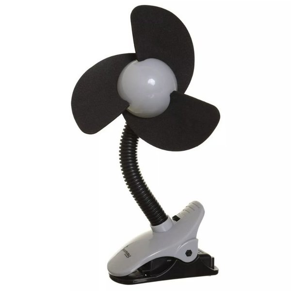 View larger image of EZY-Fit Clip-On Stroller Fan - Black / Grey