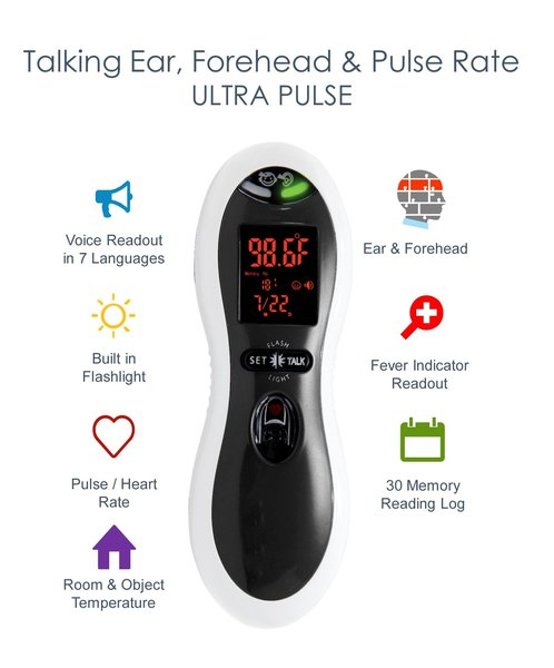 View larger image of Dual Scan Ultra - Pulse + Ear + Forehead Thermometer