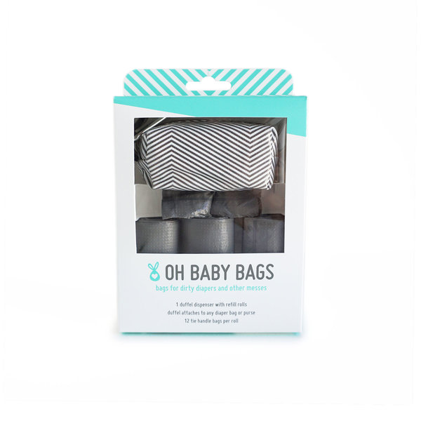 View larger image of Oh Baby Bags - Duffel Gift Box - Grey Stripe
