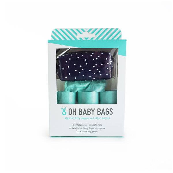 View larger image of Oh Baby Bags - Duffel Gift Box - Navy Dot