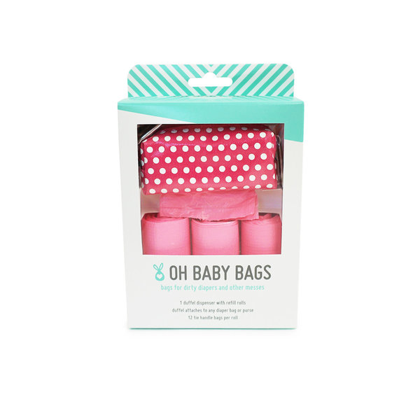 View larger image of Oh Baby Bags - Duffel Gift Box - Pink Dot