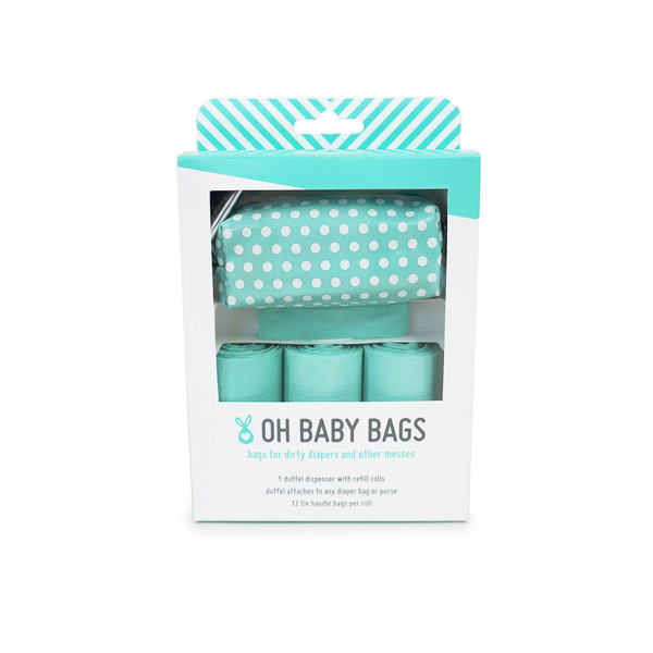 View larger image of Oh Baby Bags - Duffel Gift Box - Seafoam Dot