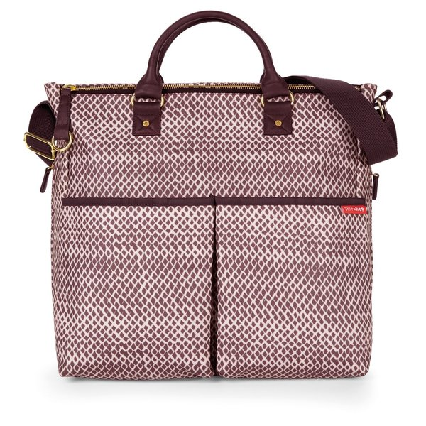 View larger image of Duo Special Edition Diaper Bag - Plum Sketch