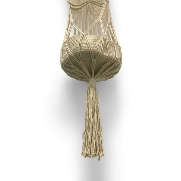 View larger image of Macrame Hanging Toy Basket