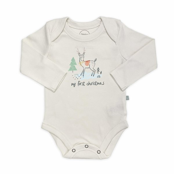 View larger image of Deer Holiday Print Bodysuit