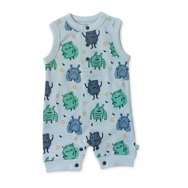 View larger image of Organic Sleeveless Romper - Monster