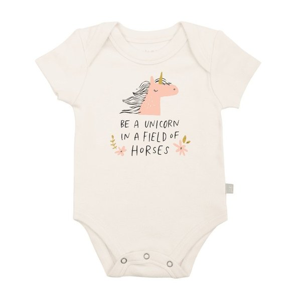 View larger image of Organic Onesie - Unicorn In A Field of Horses