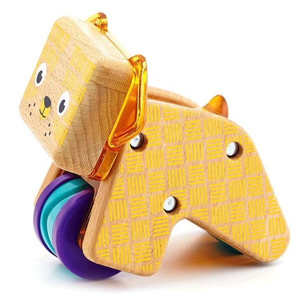 View larger image of Wooden Curious Pup Toy