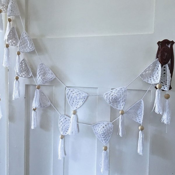 View larger image of Bunting Flag-White