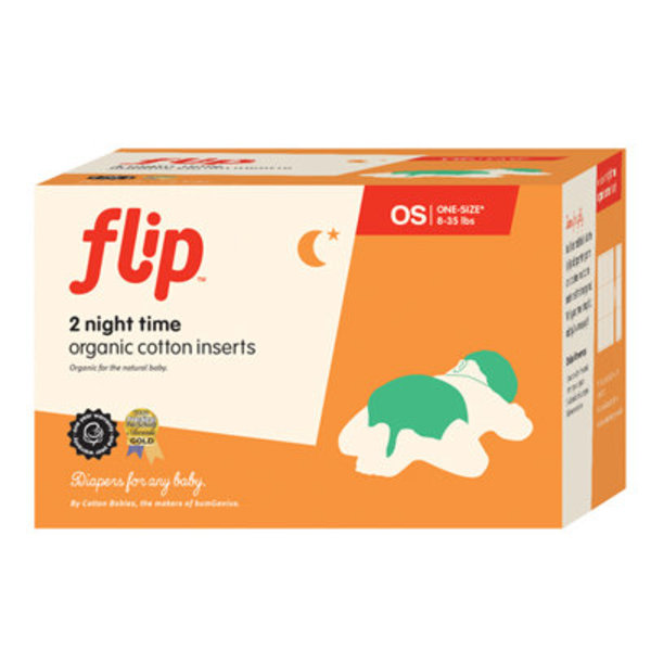 View larger image of Flip Organic Night Time Inserts- 2pk