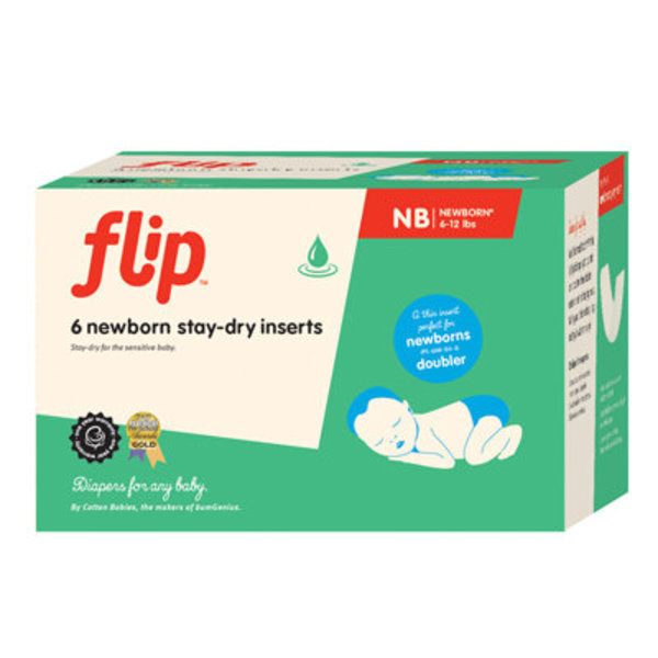 View larger image of Flip Stay Dry Insert NB 6-pack