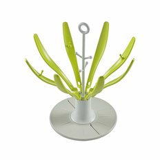Beaba Folding Flower Bottle Drying Rack - Neon