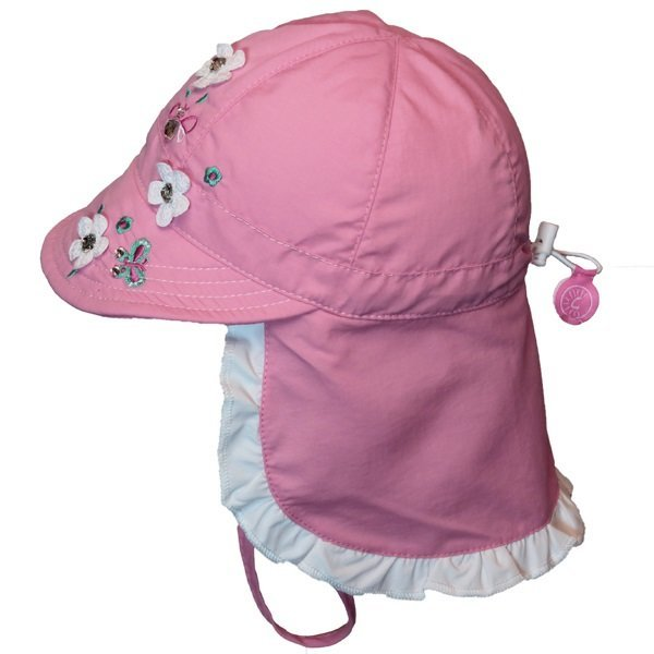 View larger image of Flower Flap Hat - Candy Pink