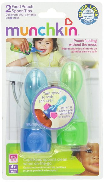 View larger image of Food Pouch Spoon Tips, Multicolor, 2-Count