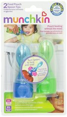 Food Pouch Spoon Tips, Multicolor, 2-Count
