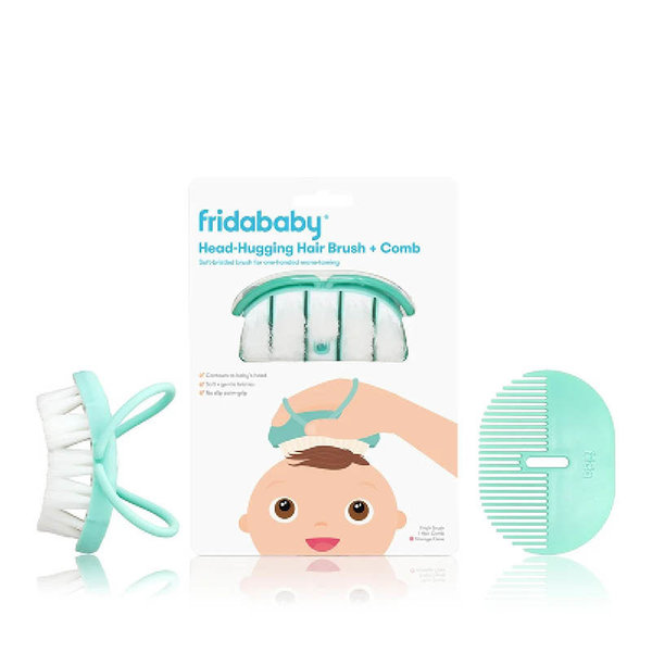 View larger image of Baby Head-Hugging Hairbrush + Styling Comb Set