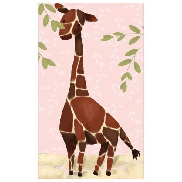 View larger image of Gillespie Giraffe- Pink-24x40